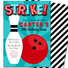 Bowling Party Invitations Strike Bowling Party Invitation By That Party Chick Boy Bowling