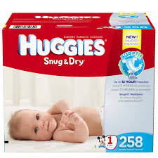 Huggies Snug Dry Diapers Size 1 258 Count