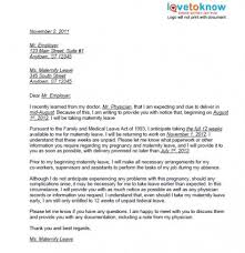 How To Write Maternity Leave Letter Employer 3 New Company