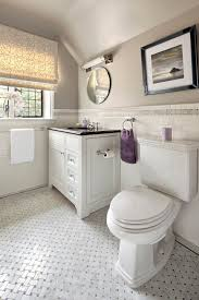 Lowes Ceramic Tile Bathroom Contemporary With Basketweave Tile Lowes White Chair Rail Tile