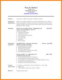 Free Sample Resume Medical Administrative Assistant Curriculum Vitae