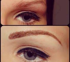 cosmetic eyebrow tattoo before and after