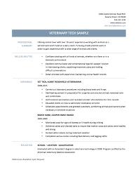 Veterinary Technician Sample Resume 22 Veterinary Assistant Resume