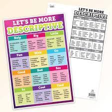 Smart Chart Be More Descriptive Smart Chart Top Notch Teacher Products