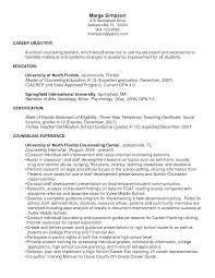 School Counselor Resume Sample Sample Resume For High School Guidance Counselor Danayaus 19
