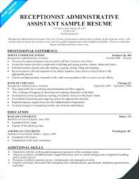 Sample Resume For Administrative Assistants Admin Assistant Description Resume Administrative Duties Templates