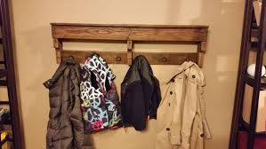Easy Coat Rack DIY Easy Pallet Shelf And Coat Rack Wooden Pallet Furniture 60
