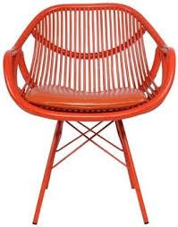modern rattan furniture. mo modern rattan retro orange dining chair by david francis furniture