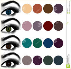 best eyeshadow color for dark brown eyes 81641 eyes makeup matching eyeshadow to eye color stock image of