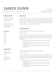 James Dunn Resume