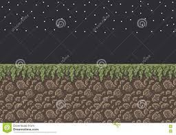 grass at night texture. Unique Texture Download Vector Pixel Art Illustration Sprite  Stone Dirt With Grass  Texture Night Time Stars Stock Inside At G