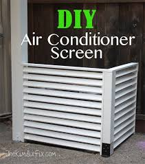 air conditioning covers outside. disguise your ac with a diy louvered screen air conditioning covers outside