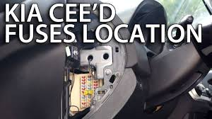 where are fuses and relays in kia cee'd (how to find location Kia Sedona Fuse Box Location where are fuses and relays in kia cee'd (how to find location) 2007 kia sedona fuse box location
