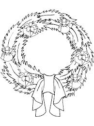 Wreath Coloring Pages Autoinsurancegusinfo