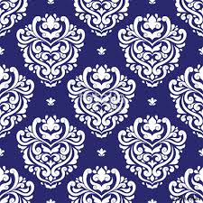 blue and white damask vector seamless pattern wallpaper elegant classic texture luxury ornament royal victorian baroque elements