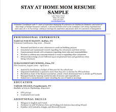 Tips For Resume Objective Stay At Home Mom Resume Sample Writing Tips Resume Companion