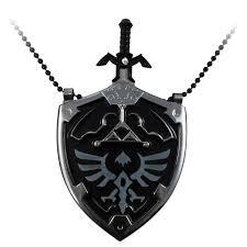 legend of zelda master sword letter opener and hylian shield necklace com