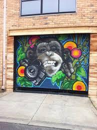 funky ape garage door seddon victoria australia image exterior wall murals