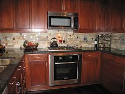 Kitchen Backsplash Patterns Kitchen Appealing Wooden Kitchen Set Feat Mosaic Tiles For