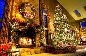 Fireplace Mantel Christmas Decorating Ideas Photos Decorations For Christmas Fireplace Mantel