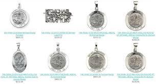white gold saint michael pendants