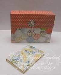 Just Julie Bs Stampin Space Card File Box Business Card Holder