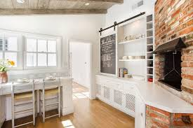 sliding chalkboard barn door for the kitchen cabinet design tal naor and thea segal