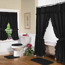 black swag shower curtain w availab shower curtains with window curtains to match for