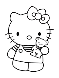Hello Kitty Kleurplaat Love Is3 Teddy Bear Coloring Pages