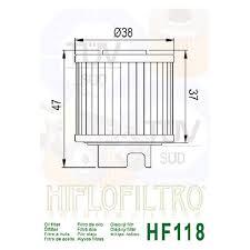 Hiflo Oil Filter Fitment Chart Hiflofiltro Hf118 Premium Oil Filter