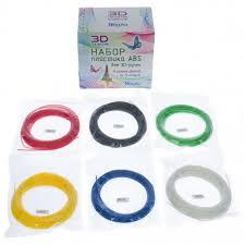 <b>Набор</b> ABC пласти для 3D ручки 6 цветов х 12м <b>Honya</b> - Игракот