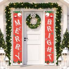 After personalizing the template, you can print out your cards or send them digitally to spread the joy. Amazon Com Visco Merry Christmas Banners New Year Outdoor Indoor Christmas Decorations Welcome Bright Red Xmas Porch Sign Hanging For Home Wall Door Holiday Party Decor Red Christmas Banner Garden Outdoor
