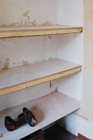 How To Build Floating Shelves In An Alcove Cool DIY Floating Shelves Fix It Pinterest Shelves Alcove And