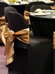 black furniture covers. Gold Sash For Chair Covers · Black Furniture