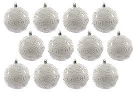 Christbaumkugeln Weihnachtsbaumkugeln Bruchfest Weiss