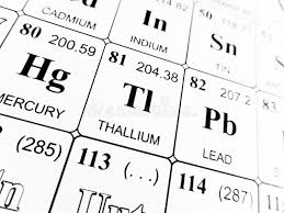 Thallium On The Periodic Table Of The Elements Stock Image - Image ...