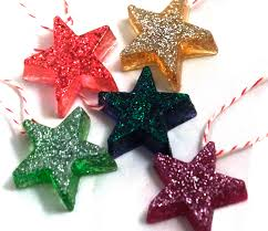 Resin Star Christmas Tree Decorations. How to Make Resin Ornaments
