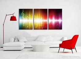 office canvas art. 2018 Beating Music Notes Canvas Wall Art Paintings Colorful Abstract Artwork For Home And Office Decoration, 16x24\u0027\u0027 Piece From Utocommerce, L
