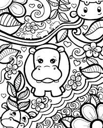Hippo Coloring Page Mistersofpuertoricoinfo