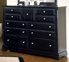 Top Dresser Black On All American Lodge Collection 9 Drawer Triple Dresser  In Black Dresser Black