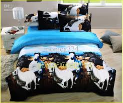 luxury 3d animal horse painting bedding kids las girls boys comforter set printed cotton sanding queen king bedsheet duvet cover sets bedding clothes