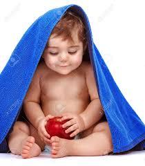 Cute Baby Boy With Apple Fruit Cute 图 ...