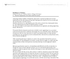 feminist criticism chinua achebe s things fall apart gcse document image preview