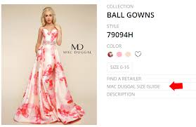 Find Your Perfect Dress Size Mac Duggal