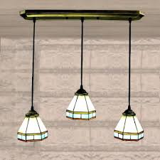 tiffany style stained glass mission chandelier