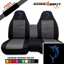 91 03 ford ranger 60 40 black charcoal seat covers marlin logo choose color