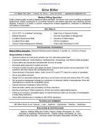 Medical Billing Resume Template Mesmerizing Medical Billing Resume Template Viawebco