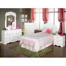 Diamond Dreams 5 Piece Twin Bedroom Package   White