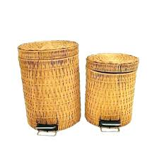 small wicker wastebasket with lid. Beautiful Wastebasket Wicker Trash Can Waste Basket Small Wastebasket With Lid  Locking   Inside Small Wicker Wastebasket With Lid E