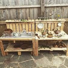 Mud Kitchens From Pallet Wood Diy Mud Kitchen Mud Kitchen Diy Outdoor Kitchen